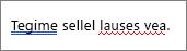 Word näitab, et õigekirja ja grammatika kontrollimine värvilise rõhutab tõrked