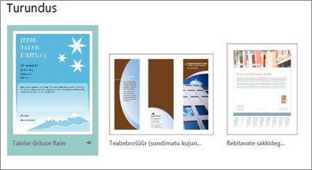 Publisheri turunduspostkaartide mallid