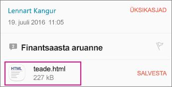 OME Sõnumivaatur koos Androidi meilirakendus 1