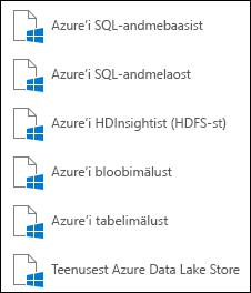 Andmete hankimine Microsoft Azure'ist