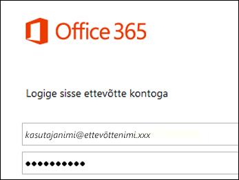 Office 365 portaali sisselogimiskuva
