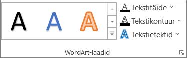 WordArt-laadid