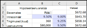 Hüpoteeklaenu analüüs