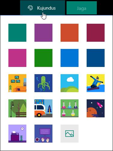 Kujunduste Galerii rakenduse Microsoft Forms.