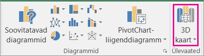 Exceli ruumilise kaardi valik
