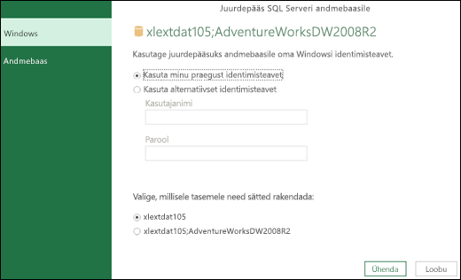 Power Query – identimisteabe seadmine serveri tasemel