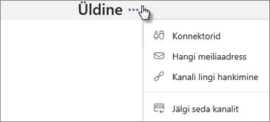 Uudised Connectori dialoogiboks