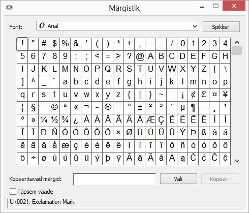 Windowsi programm Märgistik