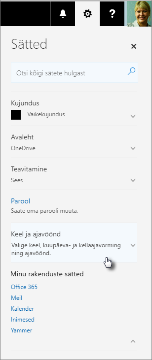 Office 365 sätete paan.