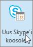 Outlook, nupp Uus Skype'i koosolek