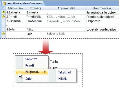 A shortcut menu that contains a submenu
