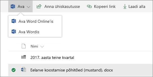 SharePoint Online ' i avatud dokumenditeek