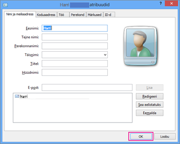 Valige OK iga kontakti korral, kelle soovite CSV-faili importida.