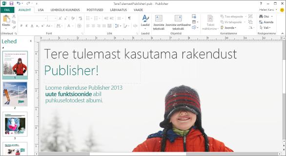 Microsoft Publisheri avastamine