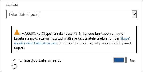 Microsoft Formsi funktsiooni kuvamiseks laiendage litsentsi