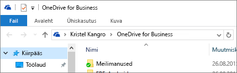 OneDrive for Businessi vana töölauaklient