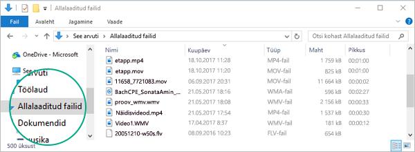 Teisendatud fail kopeeritakse teie arvuti kausta Allalaaditud failid