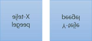 Peegeldatud näidistekst: esimene on pööratud X-teljel 180 kraadi ja teine on pööratud Y-teljel 180 kraadi