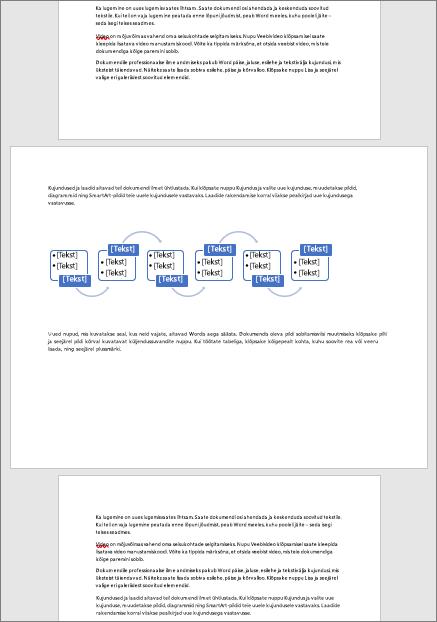 Horisontaalpaigutusega lehe muidu vertikaalpaigutus dokumendis võimaldab teil mahutamiseks lai elemendid nagu tabeleid ja diagramme lehele