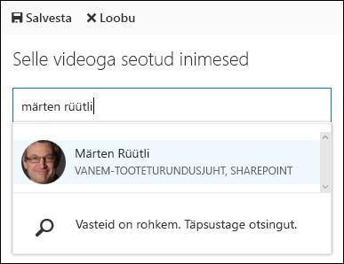 Office 365 Video sidusettevõtte inimesed