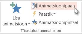 Animatsioonipaani kuvamine