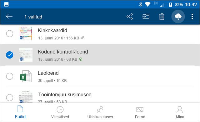 OneDrive Säilita võrgus