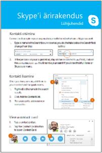 Skype'i ärirakenduse Lühijuhend komplekt pisipilti