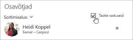 Kuvatõmmis Outlooki veebirakenduse nupust Taotle vastuseid