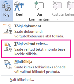 Valitud teksti tõlkimine