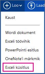 Exceli küsitluse loomine