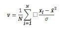 Funktsiooni SKEW.P võrrand