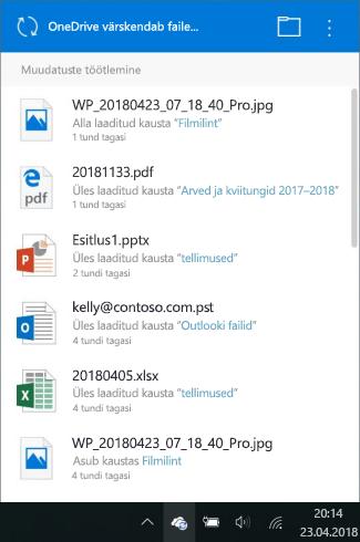 Kuva OneDrive töötlemine muudatused
