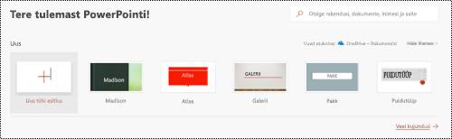 Tere tulemast vaade mallide kasutamine rakenduses PowerPoint Online.