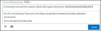 Kuvatava tekstiga vormindatud dokumendi URL uudistekanali postituses