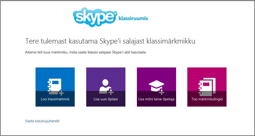Tere tulemast kasutama salajast Skype'i
