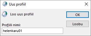 Uue Outlooki meiliprofiili seadistamine kasutajale katiaus.