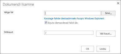 Windows Exploreri kaudu üles laadida