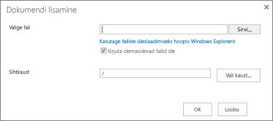 Windows Exploreris üles