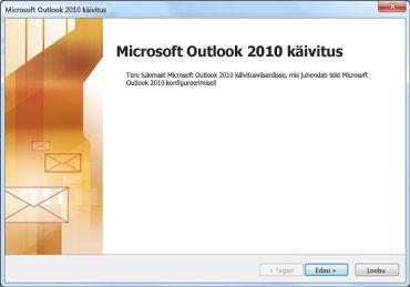 Outlook 2010 käivitusaken