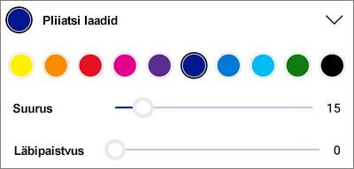 OneDrive for Android PDF-i märgistus pliiatsi laadid
