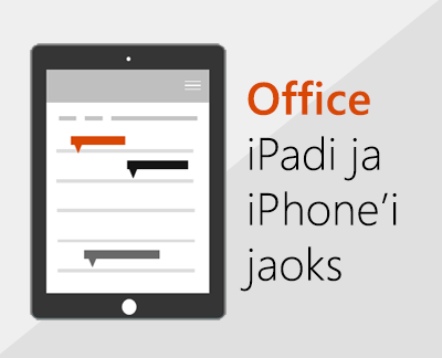 Office'i rakendused iOS-is