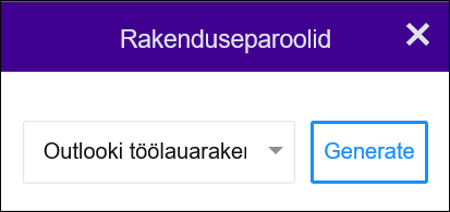 """Valige Outlooki töölauarakendus ja seejärel """"Loo""""."""