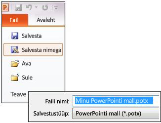 Esitluse salvestamine POTX-failina