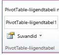 PivotTable group on the Options tab under PivotTable Tools