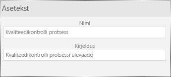 Aseteksti dialoogiboks piltide rakenduses PowerPoint Mobile for Windowsi telefonides.