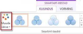 Nupp Muuda värve jaotises SmartArt-laadid