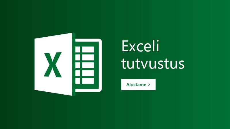 Exceli tutvustuse mall