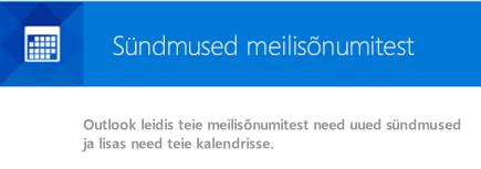 Outlookis saate meilisõnumitest luua sündmused