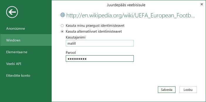 Uus alternatiivse Windowsi identimisteabe võimalus