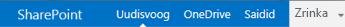 SharePoint Server 2013 navigeerimisriba